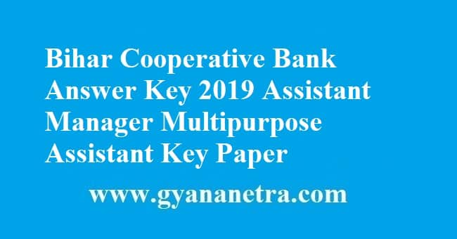 Bihar Cooperative Bank Answer Key