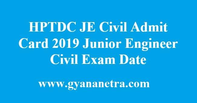 HPTDC JE Civil Admit Card