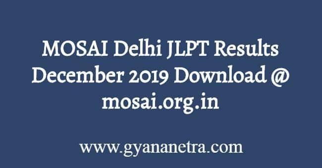 MOSAI Delhi JLPT Results December Download