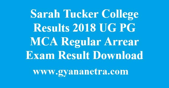 Sarah Tucker College Results