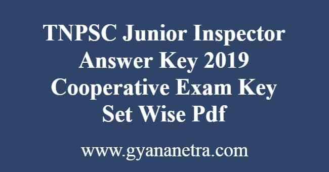 TNPSC Junior Inspector Answer Key