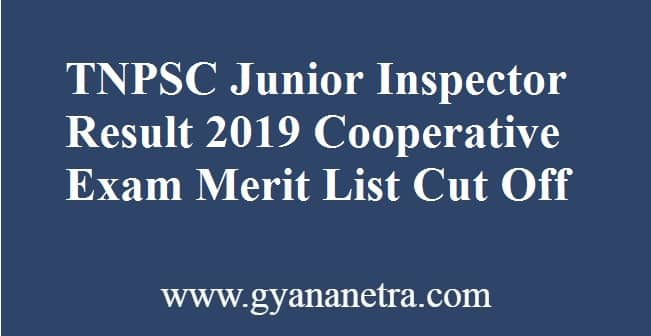 TNPSC Junior Inspector Result