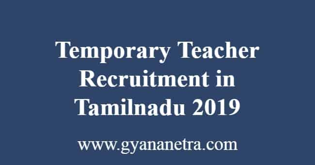 Temporary Teacher Recruitment in Tamilnadu