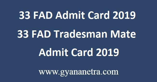 33-FAD-Admit-Card-2019