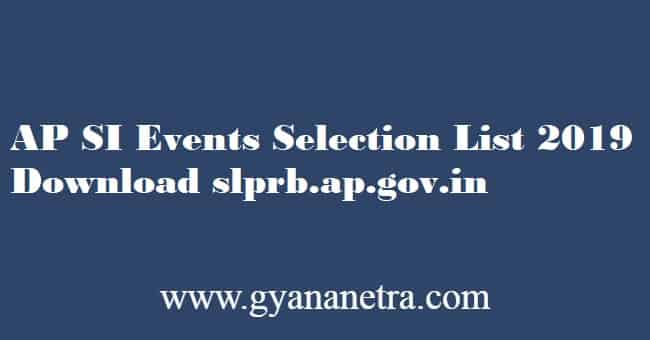 AP SI Events Selection List 2019 Download