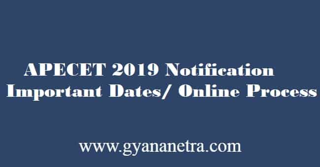 APECET 2019 Notification Download