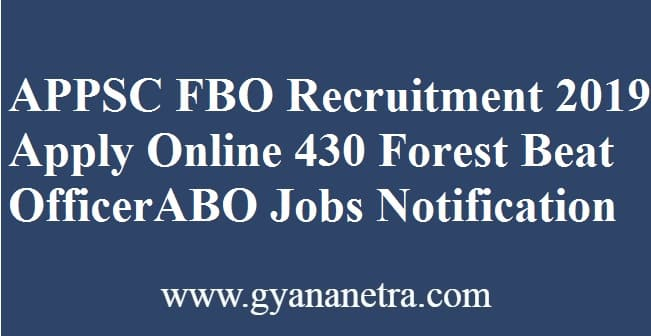 APPSC FBO Recruitment