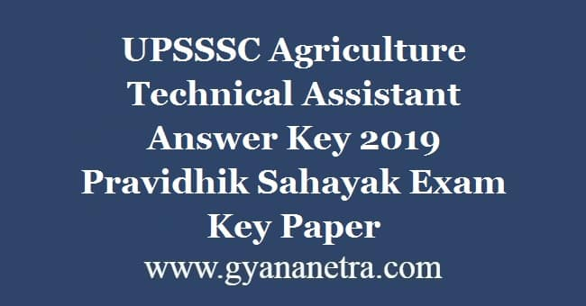 UPSSSC Agriculture Technical Assistant Answer Key