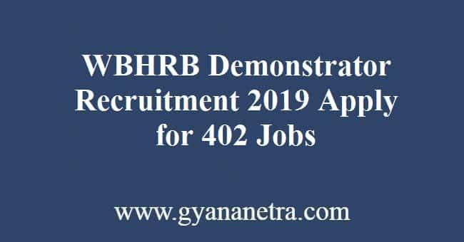 WBHRB Demonstrator Recruitment