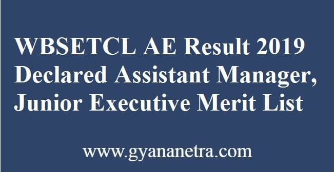 WBSETCL AE Result