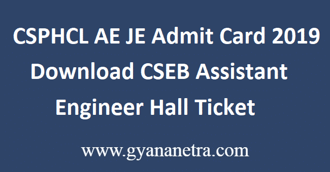 CSPHCL-AE-JE-Admit-Card