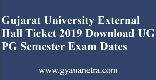 Gujarat University External Hall Ticket