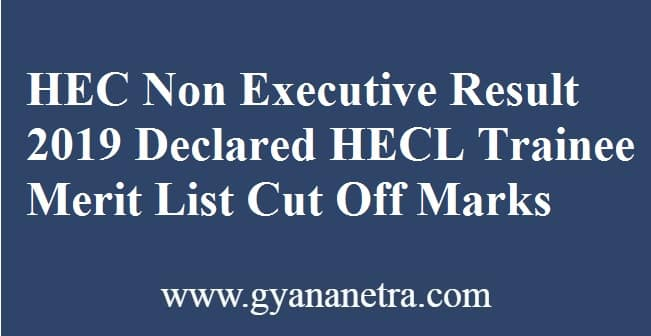 HEC Non Executive Result
