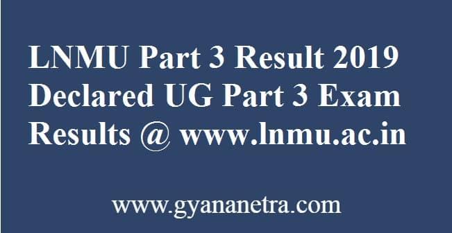 LNMU Part 3 Result