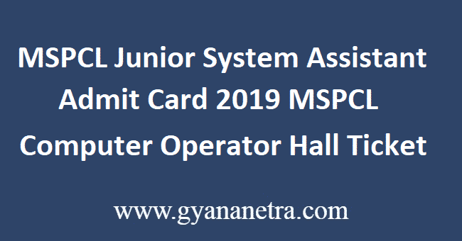 MSPCL-Junior-System-Assistant-Admit-Card