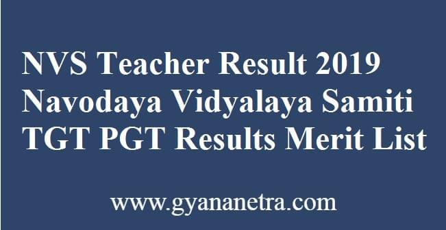NVS Teacher Result