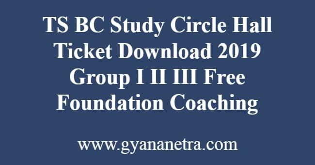 TS BC Study Circle Hall Ticket Download