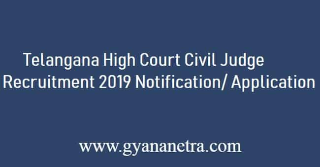 Telangana High Court Civil Judge Recruitment 2019