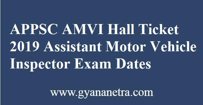 APPSC AMVI Hall Ticket
