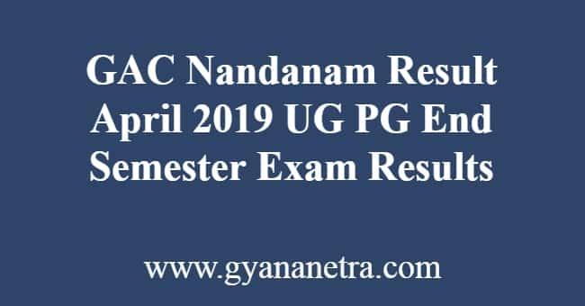 GAC Nandanam Result