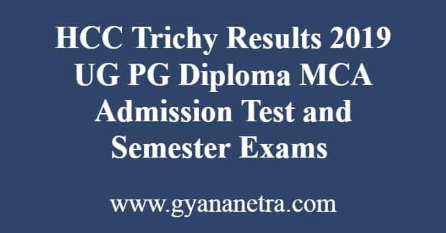 HCC Trichy Results