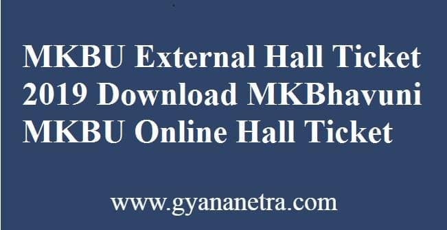 MKBU Hall Ticket