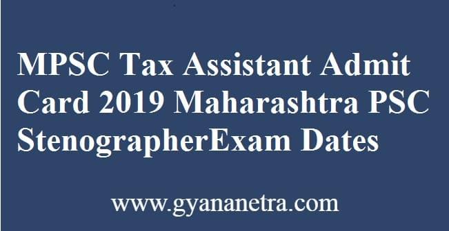 MPSC Tax Assistant Admit Card