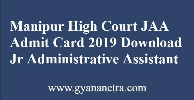 Manipur High Court JAA Admit Card