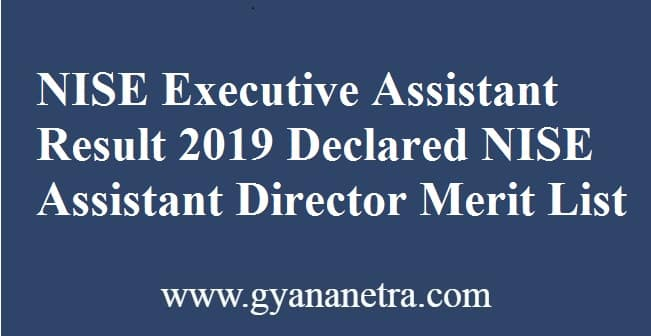 NISE Executive Assistant Result