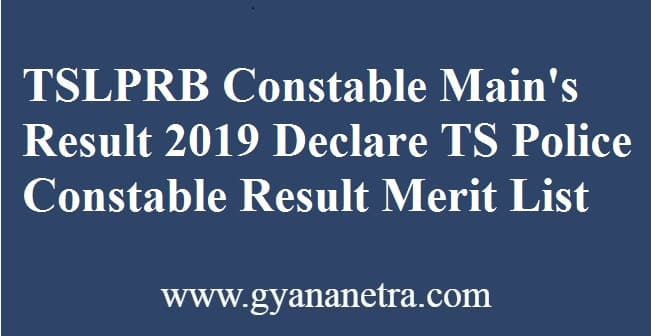 TSLPRB Constable Mains Result