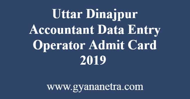 Uttar Dinajpur Accountant DEO Admit Card