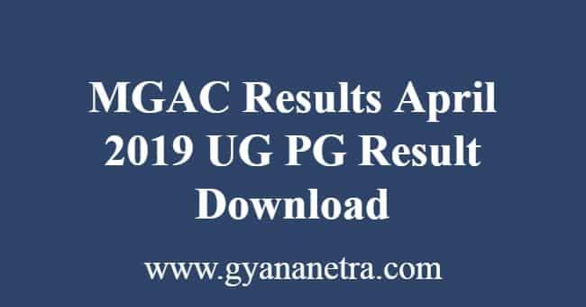MGAC Results April