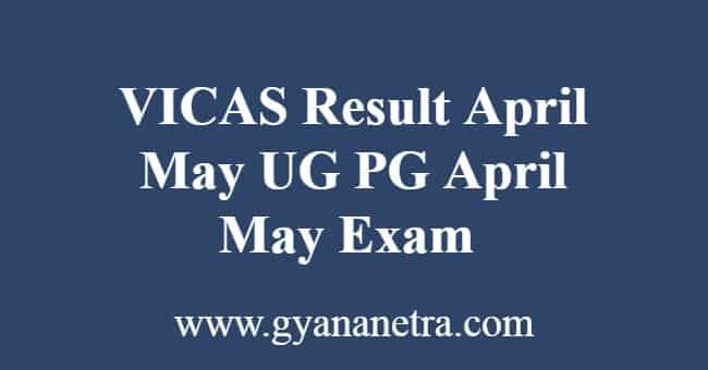 VICAS Result April May
