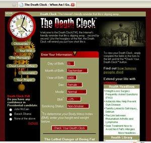 मौत की तारीख़  बताये  वेबसाइट