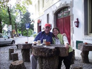 Photo: David Barker and Lisa Borre in Portugal.