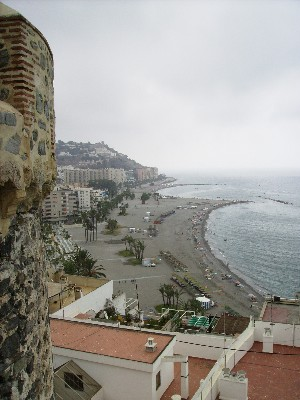 Photo: View from the Castillo Arabe de San Miguel in Almunecar. Credit: Lisa Borre.