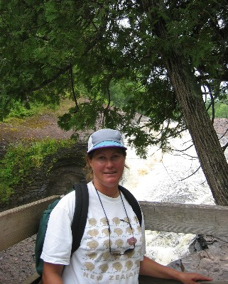 Photo: Lisa Borre at Black River, Lake Superior. Credit: D.R. Barker.