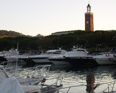 Photo: View of Gaeta from the marina. Credit: Lisa Borre.