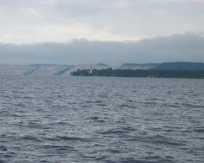 Photo: Bluffs along the shoreline of Lake Superior, west of Grand Marais. Credit: L. Borre.
