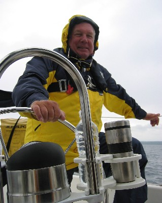 Photo: David R. Barker on Lake Superior. Credit: L. Borre.
