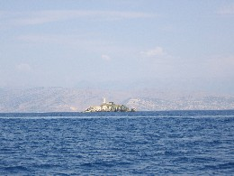 Photo: An island on the passage from Erikoússa to Corfu, Greece. Credit: Lisa Borre.
