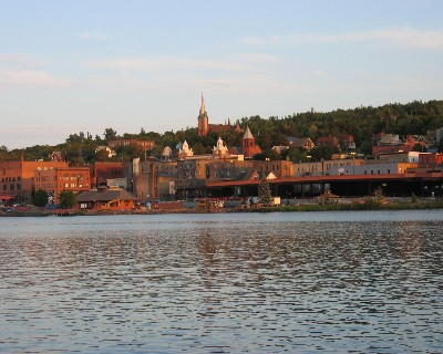 Photo: View of downtown Houghton, Michigan. Credit: L. Borre.
