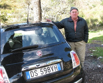 Photo: The Fiat 500 (cinquecento) rental car in Italy. Credit: Lisa Borre.