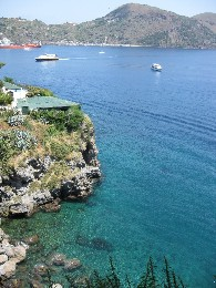 Photo: The water is beautiful in the Aeolian Islands. Credit: Lisa Borre.