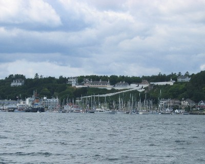 Photo: Passing Mackinac Island, Michigan. Credit: L. Borre.