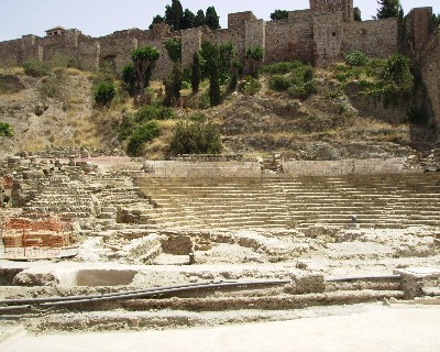 Photo: Roman and Phoenician settlements were found under the road and the Picasso Museum in Malaga, Spain. Credit: Lisa Borre.