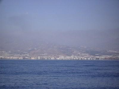 Photo: Costa del Sol, Spain on a hazy day. Credit: Lisa Borre.