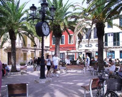 Photo: Busy square in Ciutadella, Menorca. Credit: Lisa Borre.
