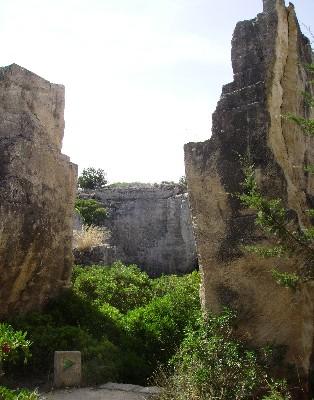 Photo: Limestone quarries near Ciutadella, Menorca. Balearic Islands, Spain. Credit: Lisa Borre.