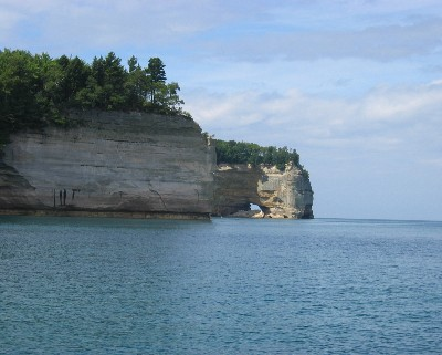 Photo: Pictured Rocks, Lake Superior. Credit: L. Borre.